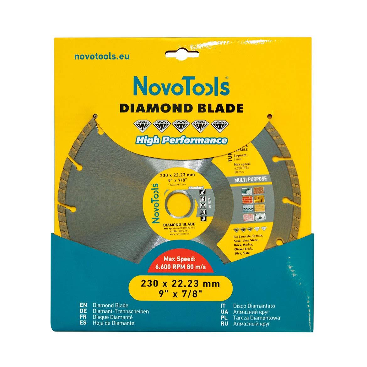 segmentiert 125 mm NOVOTOOLS DBS125//S Diamantblatt