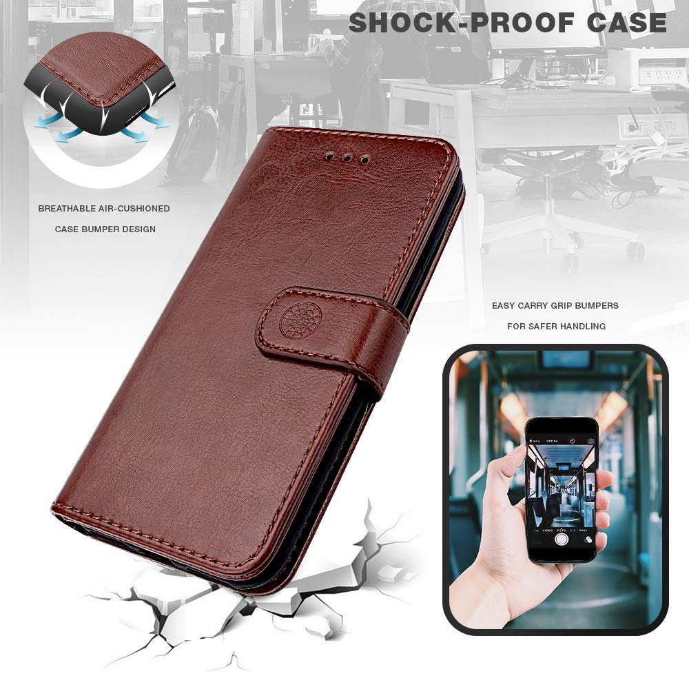 d0608354b828 Shields Up iPhone XR Wallet Case, [Detachable] Magnetic Wallet Case,  Durable and Slim, Lightweight with Card/Cash Slots, Wrist Strap, [Vegan  Leather] ...