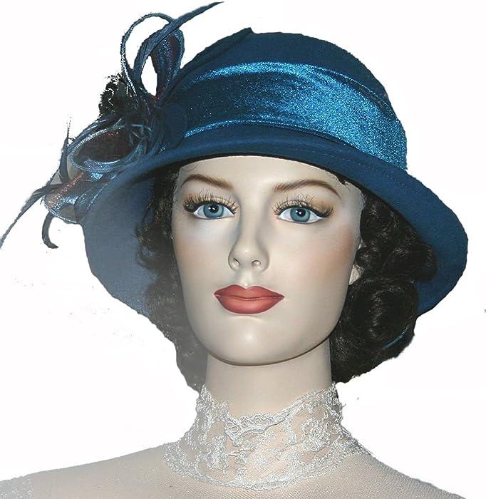 fa637b874a7 Amazon.com  Flapper Hat Edwardian Hat Downton Abbey Hat - Mademoiselle  Monique  Clothing