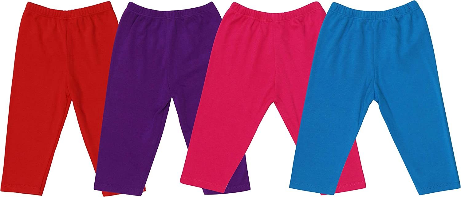 ToBeInStyle Girls 4 Pack Solid Color Lounging Casual Capri Pants Relaxed Fit