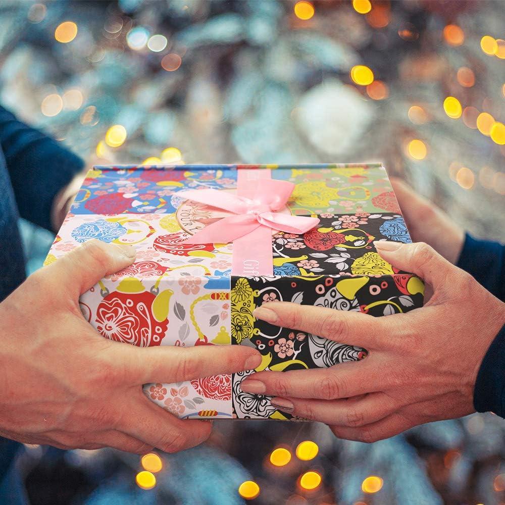 LONGKO Bougies Parfum/ées Lot de 4 Cire de soja Bougie en Etain avec 4 Fragrances-Parfait pour Bain Dur/ée 25-30h Yoga,Usage Aromatique,Cadeaux danniversaire Saint Valentin