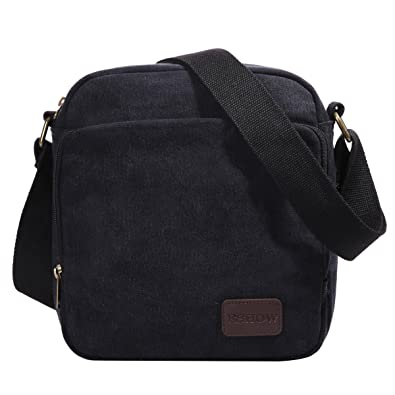 Eshow Men's Small Casual Canvas Multipurpose Everyday Satchel Bag ...