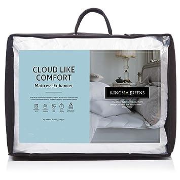 Lujoso Kings & Queens fácil Cuidado Nube como Comodidad colchón mejorador – tamaño único