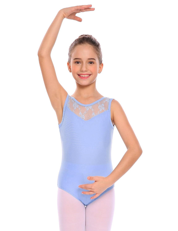 f6455b661148 Amazon.com: Arshiner Girls' Sleeveless Tank Leotard Lace Ballet Dance:  Clothing