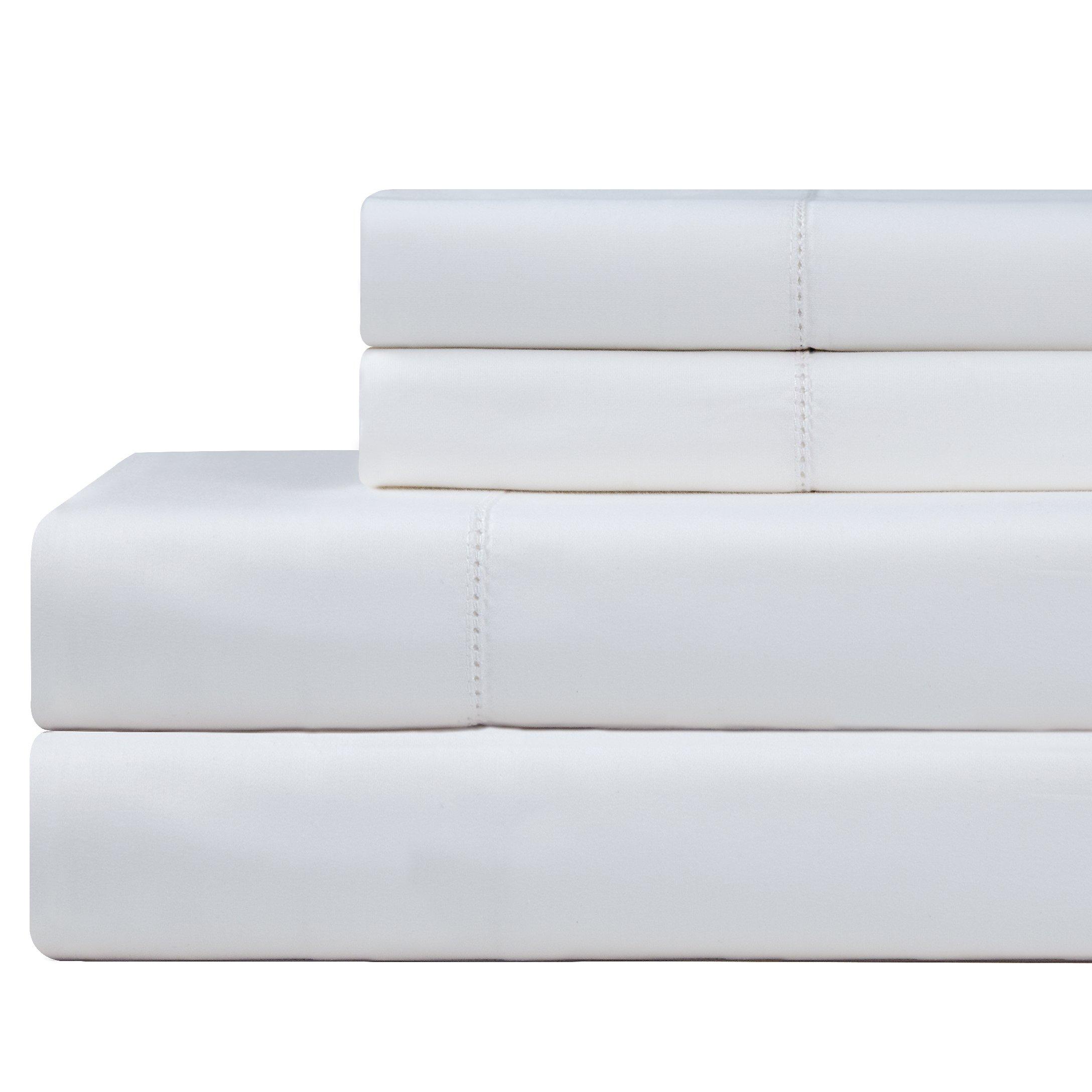 Celeste Home 610 Thread Count Pima Cotton Pillowcases, King, White