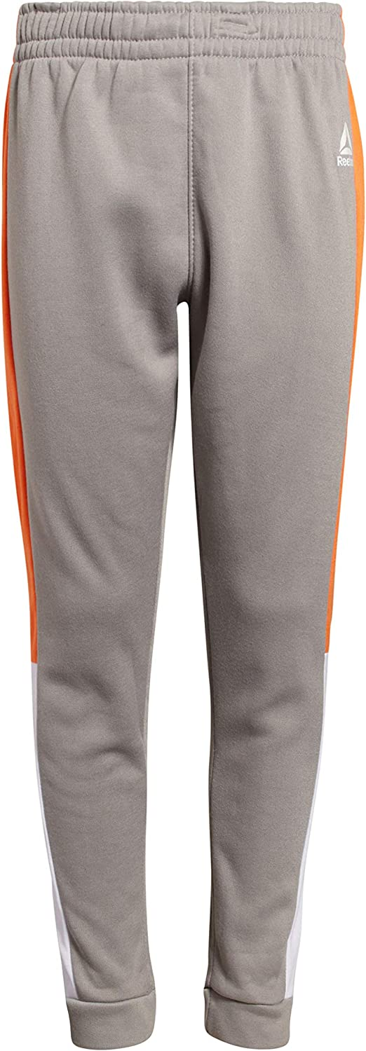 Reebok Boys 2-Piece Athletic Fleece Tracksuit Set with Zip Up Jacket and Jog Pants