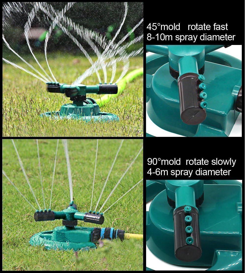 Garden Sprinkler 2020 Update, Automatic 360 Rotating Lawn Sprinkler, Large Area Coverage Water Sprinklers for Lawns and Gardens, Adjustable Rotating Sprinkler for Yard (10.4) : Garden & Outdoor