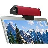 Gogroove USB サウンドバーデザイン、クリップ付きノートパソコン用ポータブルスピーカー (レッド)- Works with HP Stream , Lenovo Yoga 900 , ASUS X551MAV Notebook などのパソコンに対応