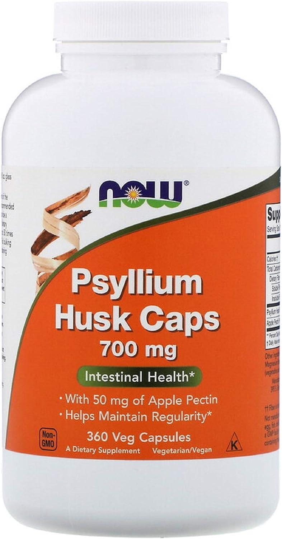 Psyllium Husk 700 mg with 50 mg of Apple Pectin Intestinal Health Digestive Non GMO 360 Veg Capsules