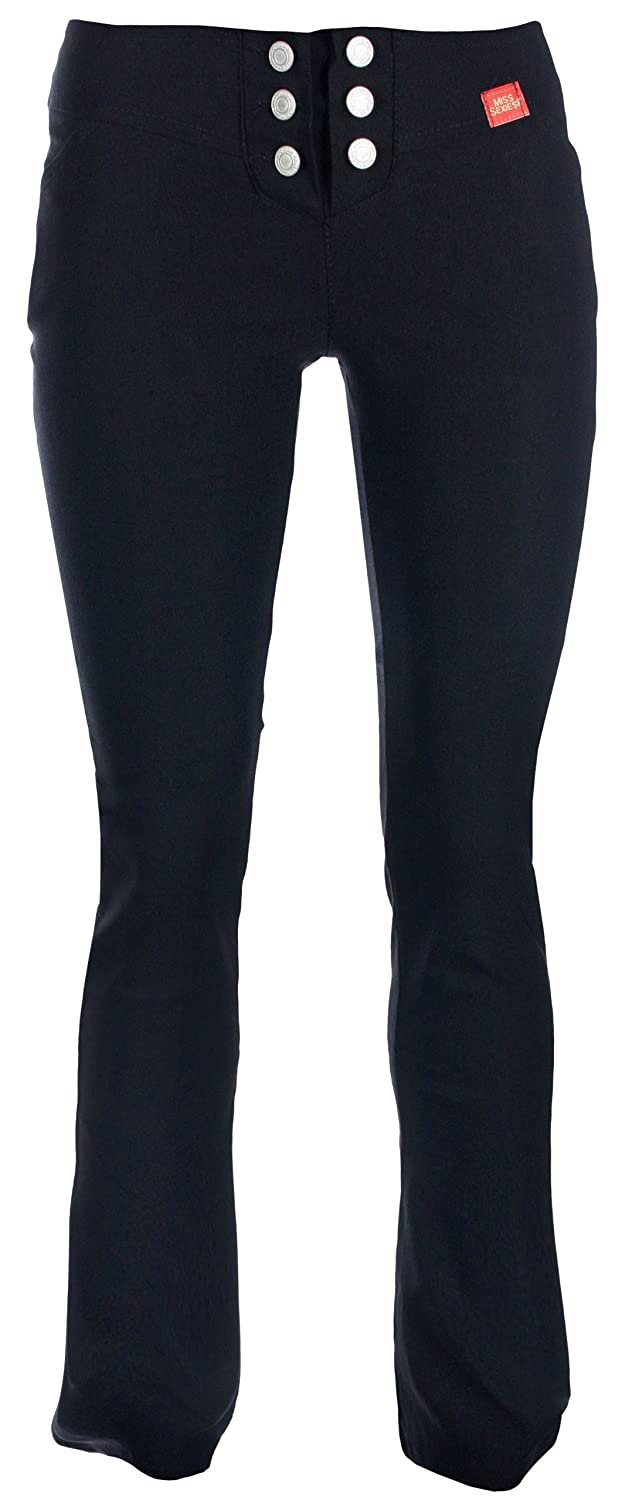Miss Sexies Girls School Trousers Black Skinny Stretch Hipster