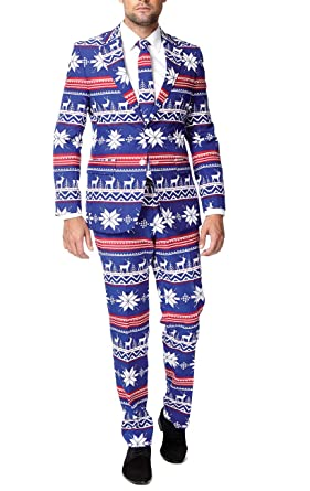 5df16aaeddc Amazon.com  OppoSuits Christmas Suits for Men in Different Prints ...