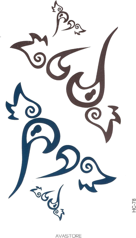 Avastore - Tatuaje temporal, diseño de corazón con alas de ángel y ...