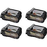atorakushon Indian Shoe Cover Travelling Shoe Storage Bag/Storage Footwear Organiser Pouch Shoe Bag Black Pack of 4