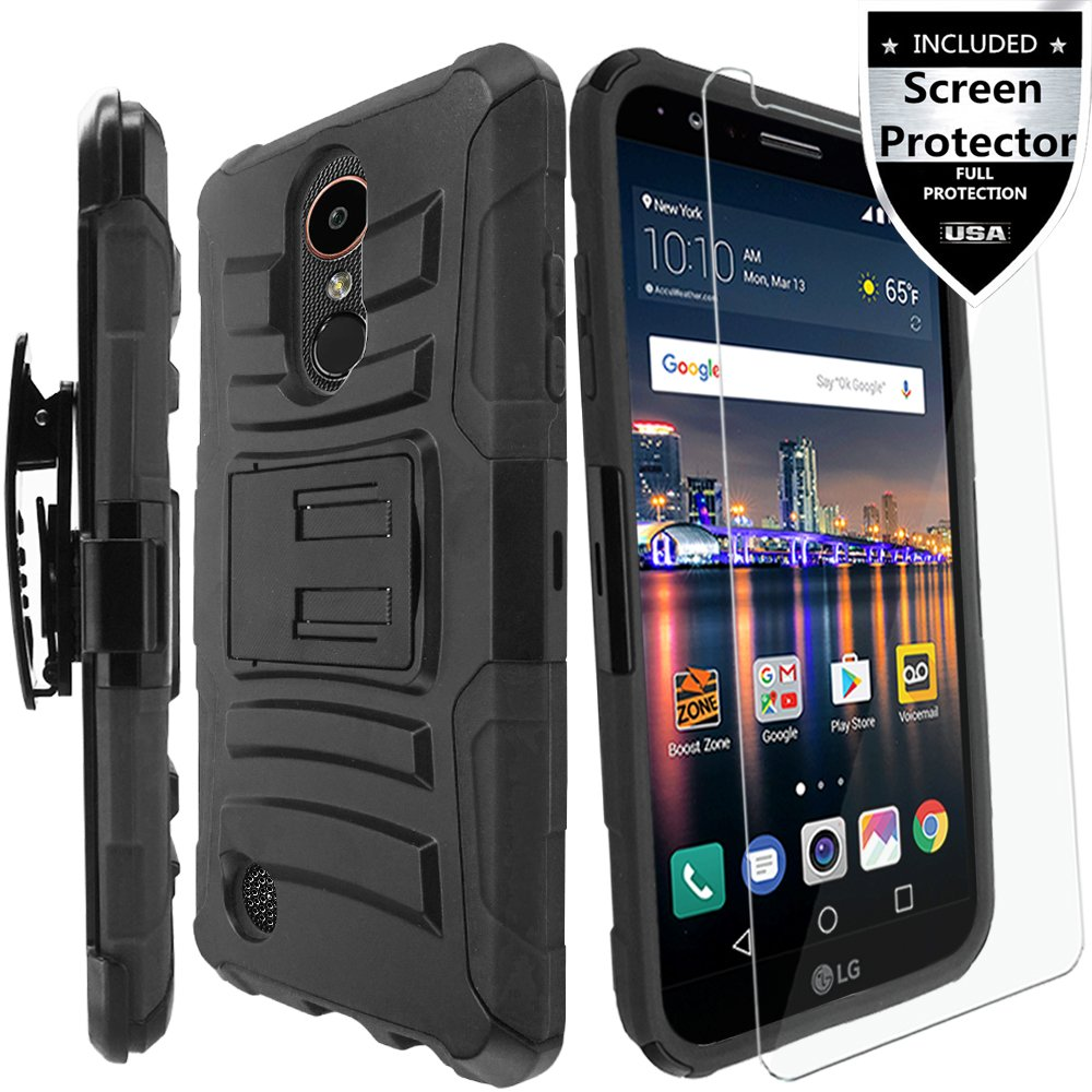 Lg Aristo 2 3 Plus Cell Phone Shield With Charger Rebel 4 Lte Caselg Risio Case Hd Screen Protector