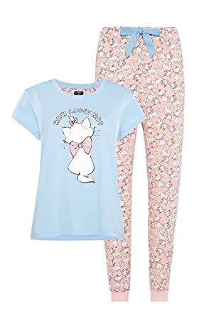 8e98f4b43a98b2 Primark Ladies Disney Marie Aristocats T Shirt Pyjamas Womens Pajamas UK XL  18-20*