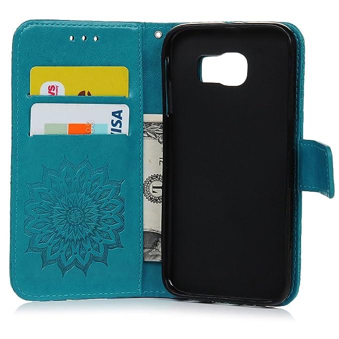 Cover per Samsung Galaxy S6 Pelle Stampata Folio Wallet Custodia   Amazon.it  Elettronica 29c4866954