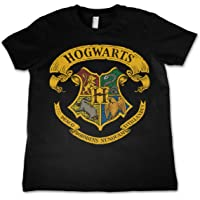 HARRY POTTER Officially Licensed Hogwarts Crest Kids T-Shirt Ages 3-12 Years