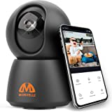 Newest 2021 FHD 1080P WiFi Indoor Home Security Camera Two-Way Audio, Smart Wireless Baby Monitor, IR Night Vision, App for i