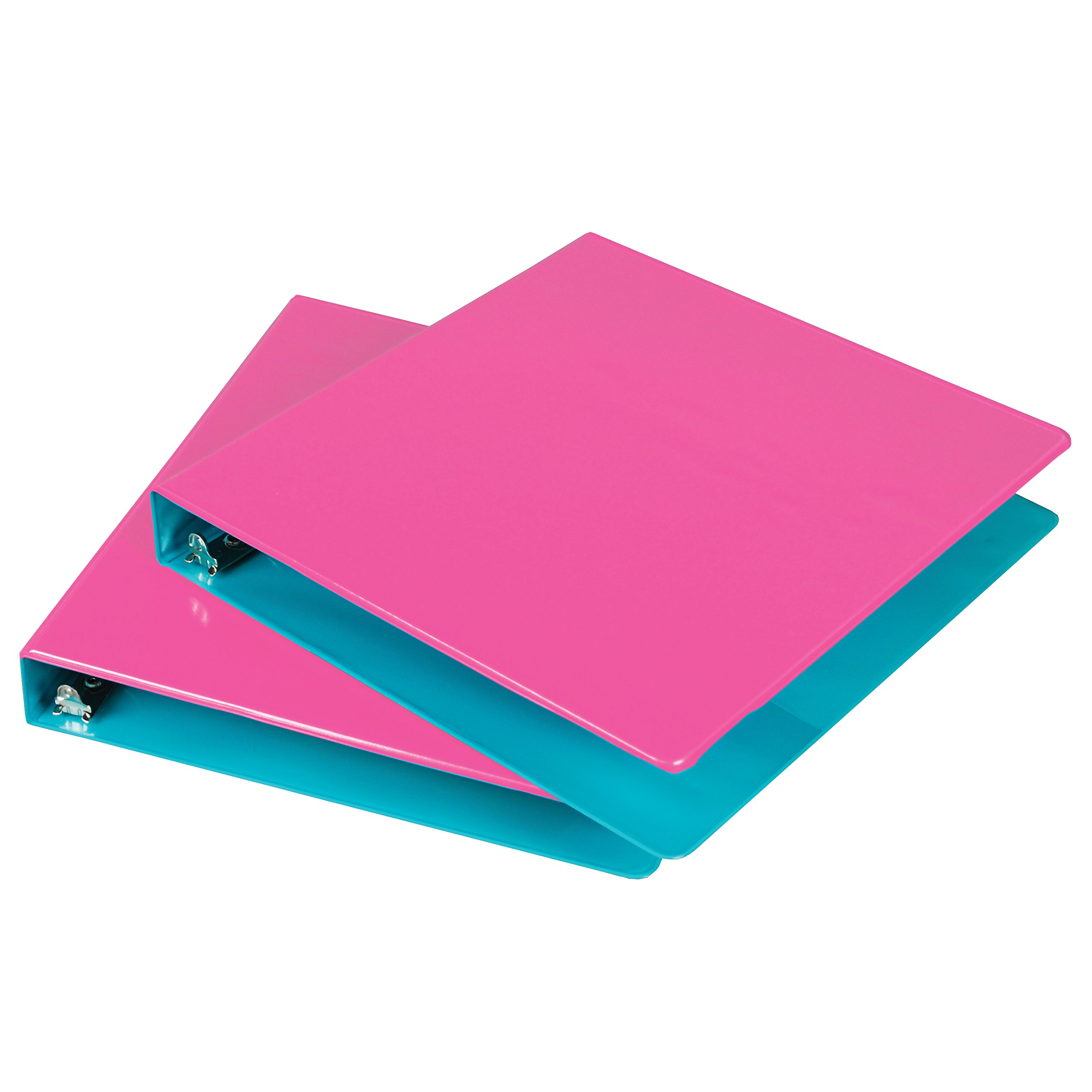 Samsill 1-Inch 2-Tone View Binder, Berry/Turquoise, Pack of 2 (U38947)