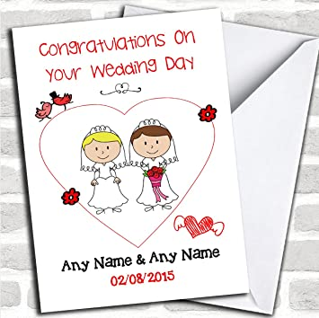 Personalised Lesbian//Gay Couple Wedding Mrs /& Mrs Word Art Print
