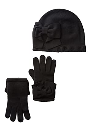0f8830fdb68bc Amazon.com  Kate Spade New York Dorothy Bow Beanie   Gloves Set ...