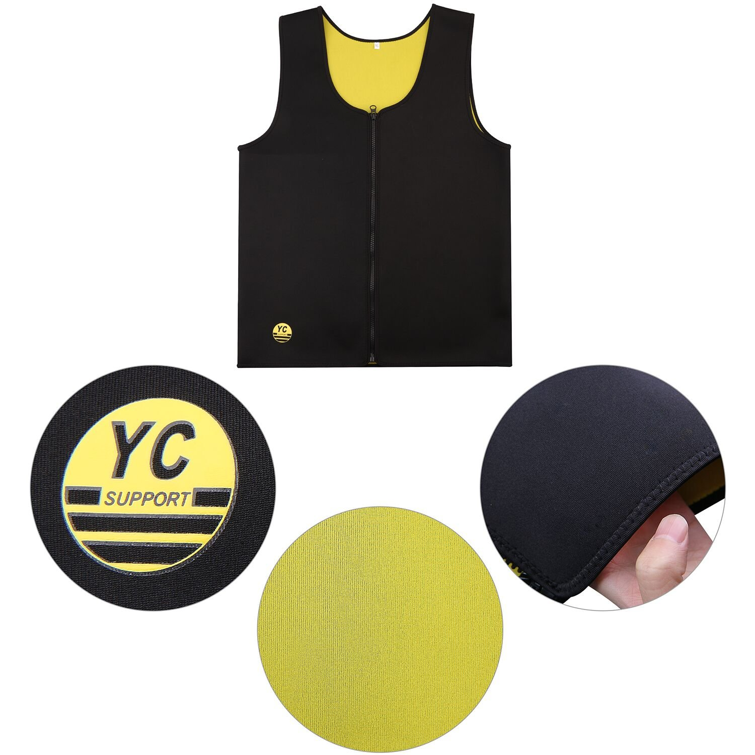 XL YC SUPPORT Sauna Vest For Men Promotes Body Heat Muscle Training Body Shaper Slimming Vest