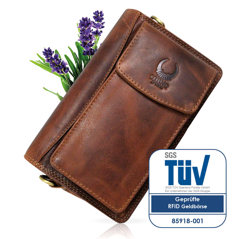 Handgelenktasche LEATHER Bag Men's Bag Travel Organizer Men Wallet Case Small Shoulder Handbag Classic Style Organiser Bag Travel Wallet Document Wallets Vintage Genuine Leather Hill Brown 3172, black (Black) - 4250736212260 3172S
