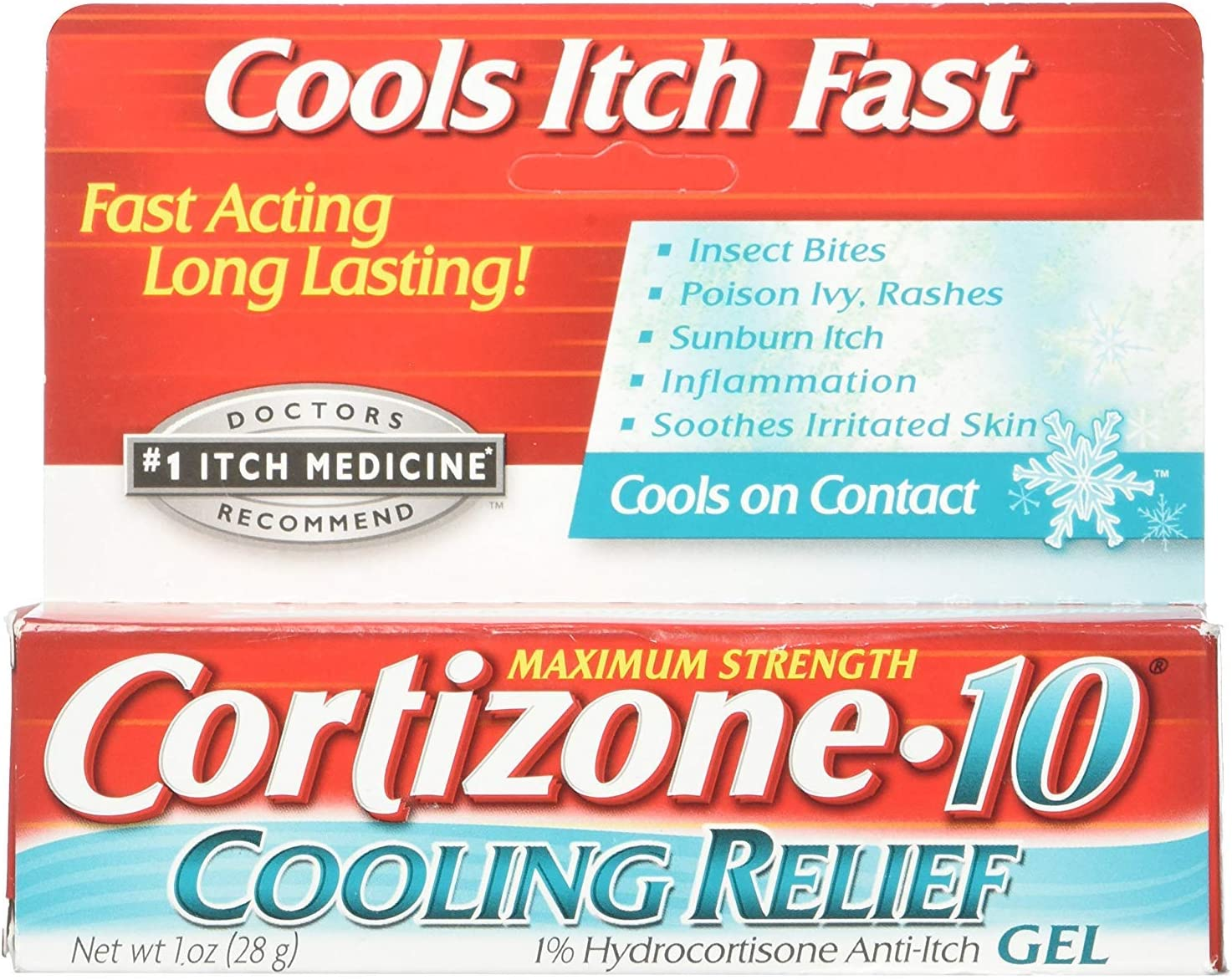 Cortizone-10 Cooling Relief Anti-Itch Gel 1 oz (Pack of 12)