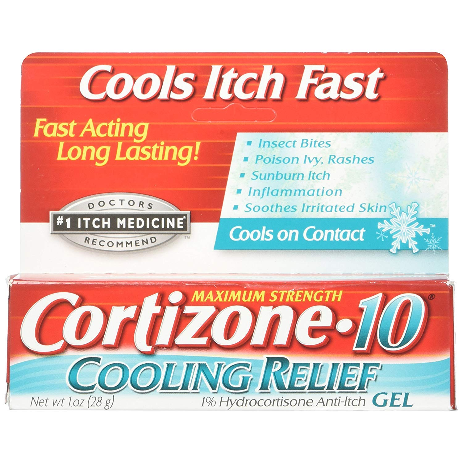 Cortizone-10 Cooling Relief Anti-Itch Gel 1 oz (Pack of 9) by Cortizone 10