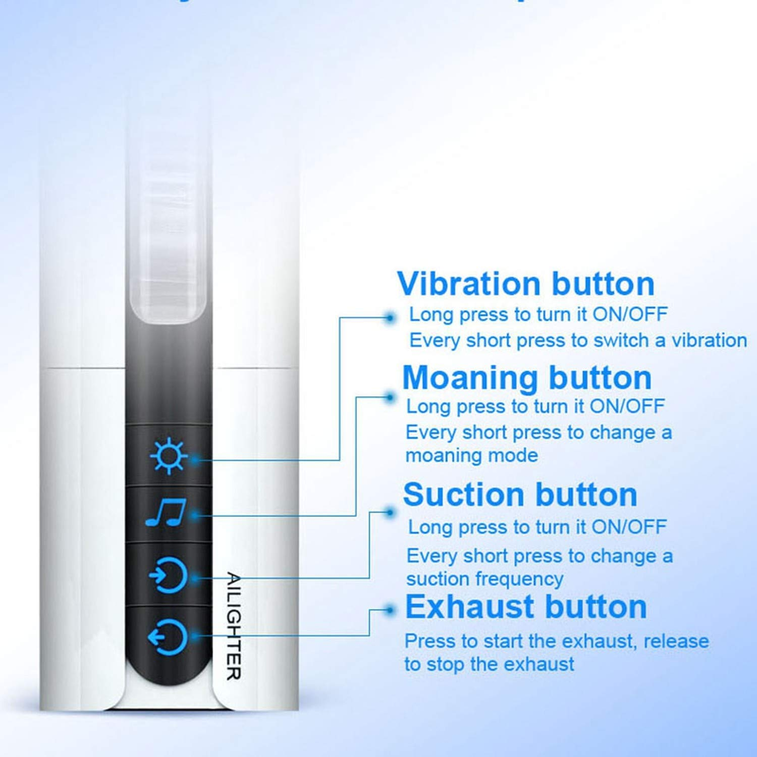 Intelligent Suction Male Moaning Interactive Heating Machine Induced Vibration Artificial Toy,Heat Smart verison by Little Sophie (Image #3)