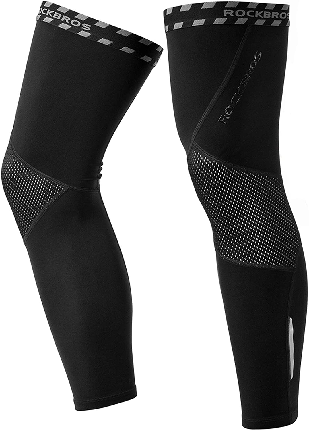 ROCK BROS Cycling Leg Warmers Thermal Long Leg Sleeves for Men Women Legwarmer: Clothing