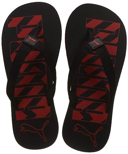 75e4b1357dc6d2 Puma Unisex s Black-High Risk Red Flip Flops Thong Sandals-9 UK India