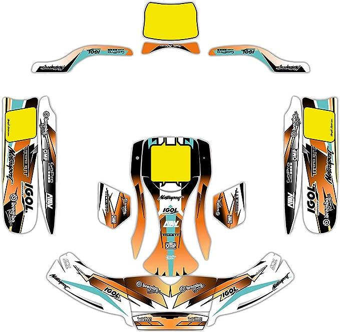 KIT Deco Karting KG BURU Duo Evo PICDK Rouge