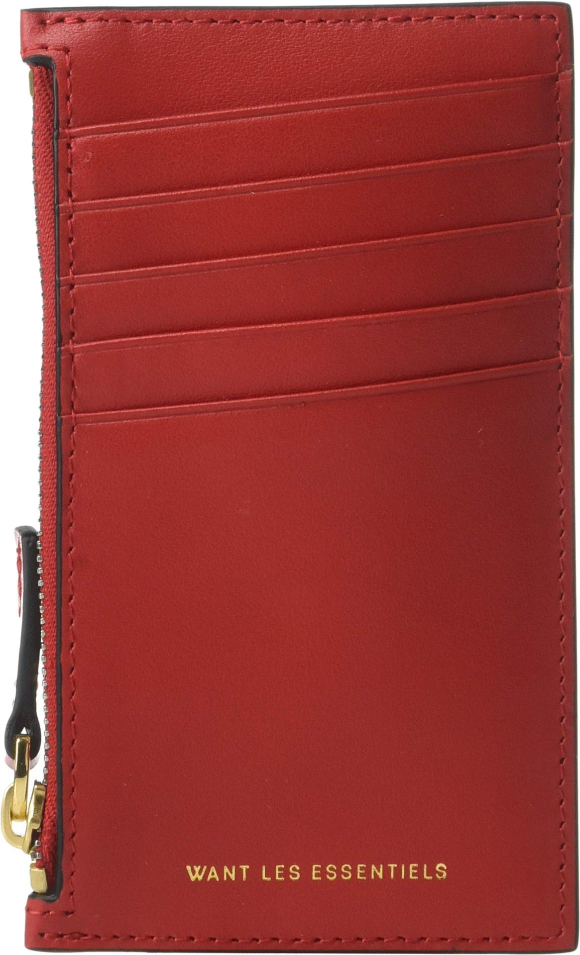 WANT Les Essentiels Women's Adana Zipped Card Holder, True Red, One Size