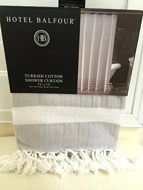 Hotel Balfour Premium Shower Curtain White Waffle Weave 100/% Turkish Cotton