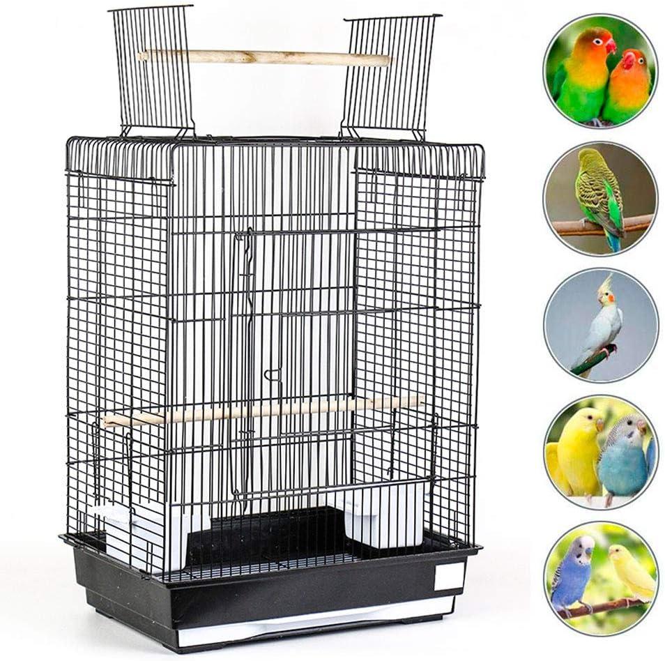 LTLHXM Jaula para Pájaros con Columpio y Bañera Jaula Metálica para Mascota Extraíble Jaula Metálica para Interior o Exterior 43 * 30.5 * 57Cm