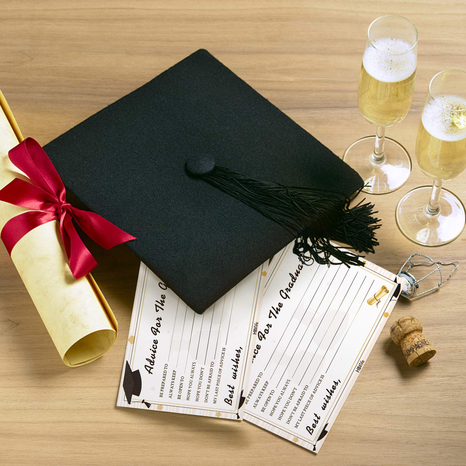 University Grad Party Games Activities Invitations Decorations Supplies High School 50 Graduation Advice Cards For Graduate Class of 2019 College