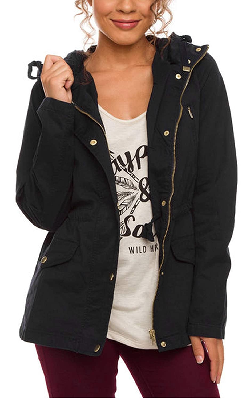 Eshion Women Slim Hoodies Coat Long Parka Trench Coat Hooded Jacket Outwear Tops @