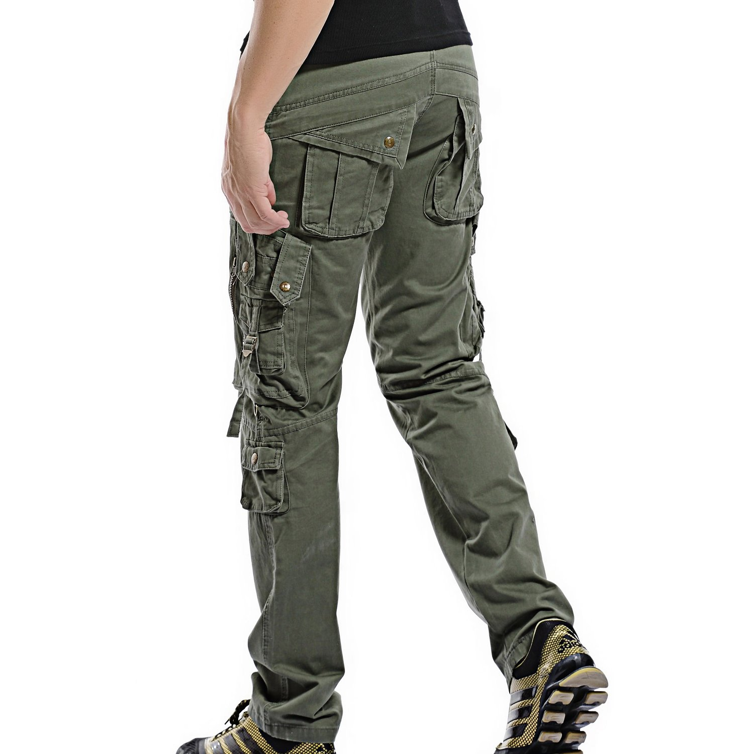 Mens Cargo Pants Work Trousers Cargo Combat Leisure Outdoor Cotton Overalls