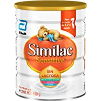 Similac Sensitive   Fórmula Infantil para Bebés Intolerantes a la Lactosa de 0 a 12 Meses   850g