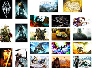 GTOTd Stickers for The Elder Scrolls:Skyrim 20-Pcs, Sticker Decals of Vinyls for Laptop, Water Bottle, WindowGift, Teens, Cars, Collection, Skate Board etc.