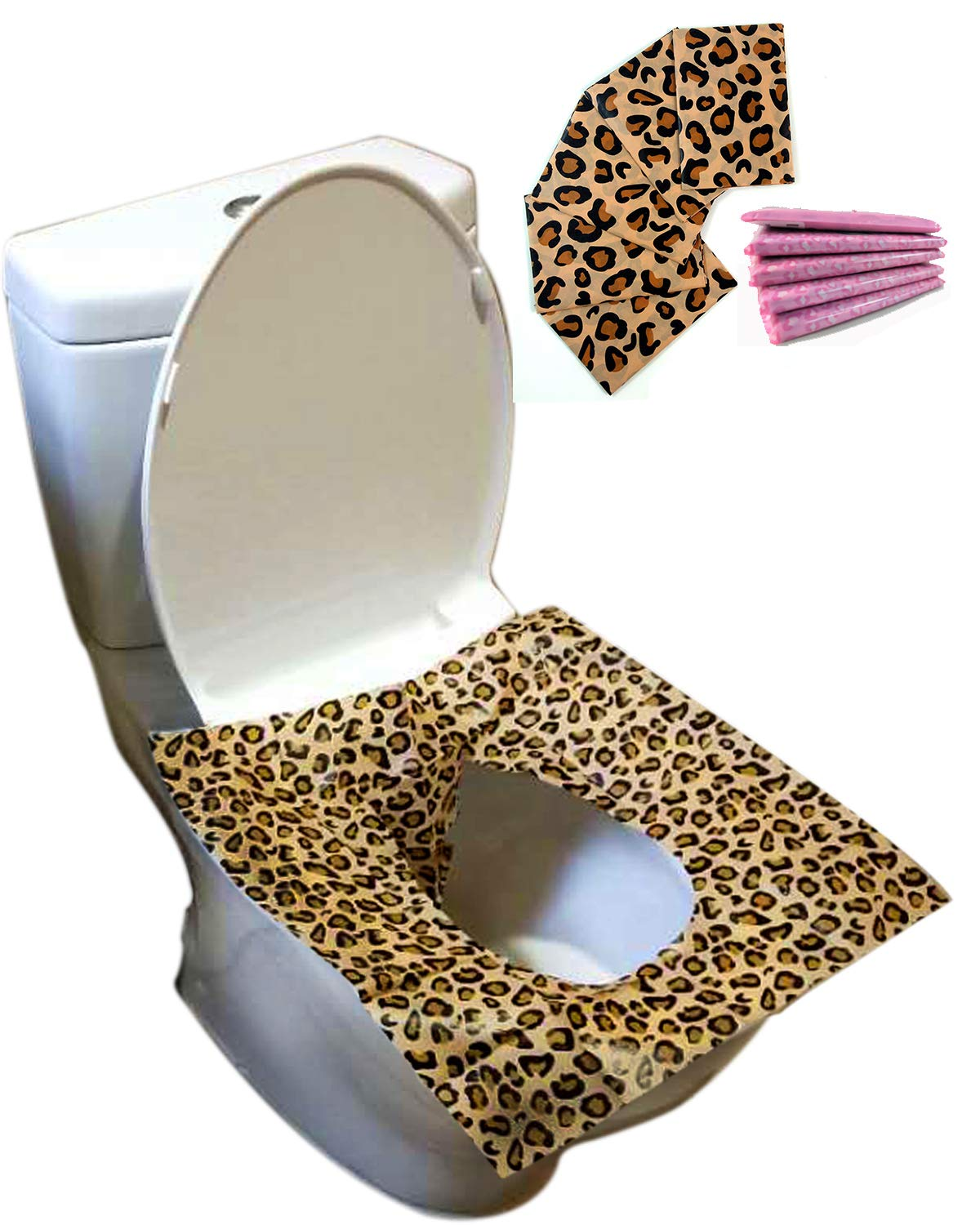 Disposable Toilet Seat Covers 25 Sheets(5 Bags) - Perfect Travel Pack Both for Kids and Adults HFHM
