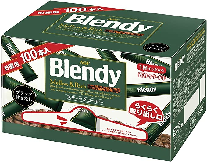 AGFブレンディインスタントコーヒースティック2g×100P