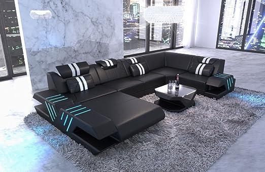Sofa Dreams Moderne Wohnlandschaft Venedig U Form In Leder Mit