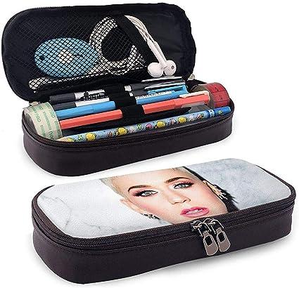 Estuche De Lápices De Cuero Katy Perry Artículos De Tocador Rápidos Bolsas De Cosméticos Estuche De Organizador Estuche De Lápices: Amazon.es: Oficina y papelería