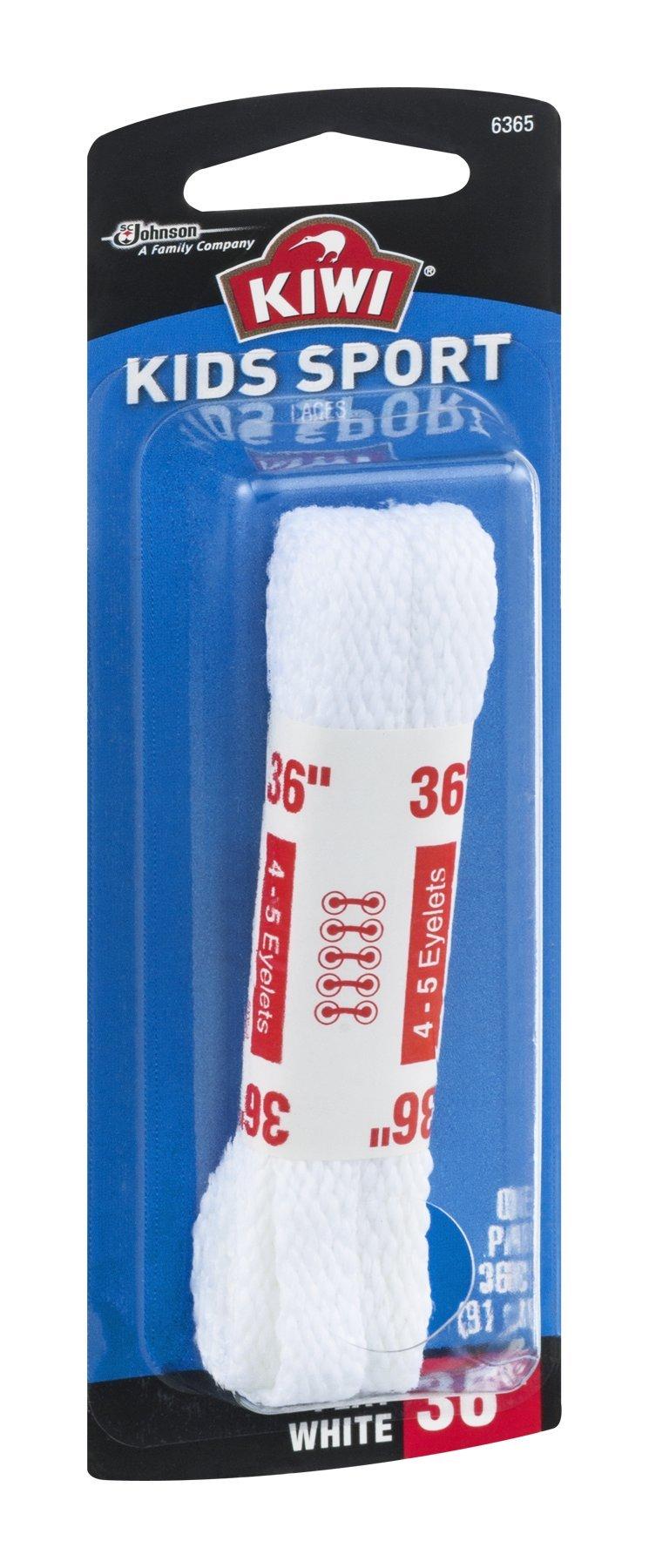 Kiwi 70430 36'' White Sport Shoe Laces