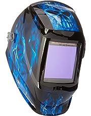 "Instapark ADF Series GX990T Solar Powered Auto Darkening Welding Helmet with 4 Optical Sensors, 3.94"" X 3.86"" Viewing Area and Adjustable Shade Range #5 - #13 Bluish Devil"