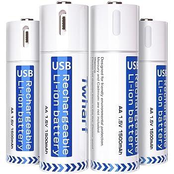 Amazon.com: EasyPower USB AA Rechargeable Batteries 4 Pack