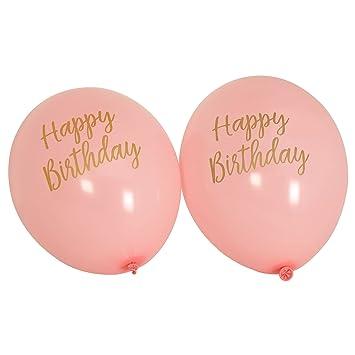 Neviti Motif Fonctionne Ballons Joyeux Anniversaire Rose Lot De 8
