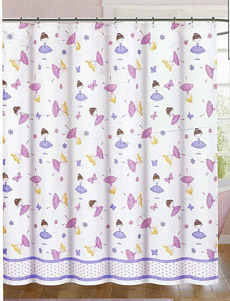 Authentic Kids Fairy Ballerina Shower Curtain